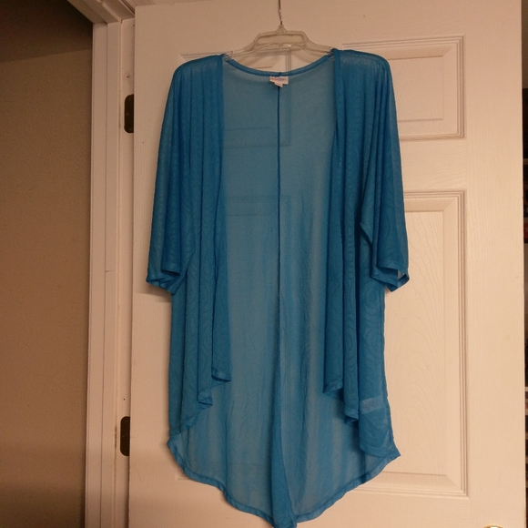 🌺LulaRoe Sheer Blue Lindsay Kimono Wrap, S